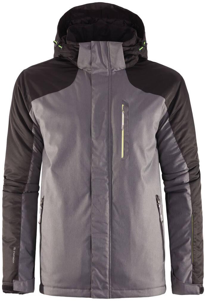 kurtka narciarska ciemny szary melanż
