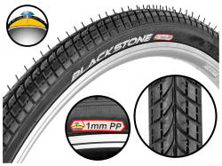 Opona BLACKSTONE 28x1.75 (47-622) 0190 + 1mm PP R-3502