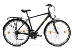 Rower miejski M-Bike MERIDA T_Bike 9.1 Men -  MATT BLACK/YELLOW/GREY - 2019