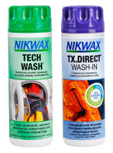 Zestaw pielęgnacyjny NIKWAX TWIN TECH WASH/TX DIRECT WASH IN  - 2 x 300 ml