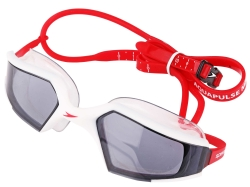 Okulary pływackie SPEEDO AQUAPULSE MAX WHITE/Mirror/RED
