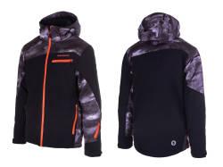 16177182756eb Kurtka narciarska BLIZZARD SCHEFFAU - grey camo/black/orange- membrana 20  000