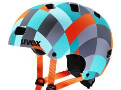 Kask rowerowy UVEX KID 3 JUNIOR CC green checkered (51-55cm)
